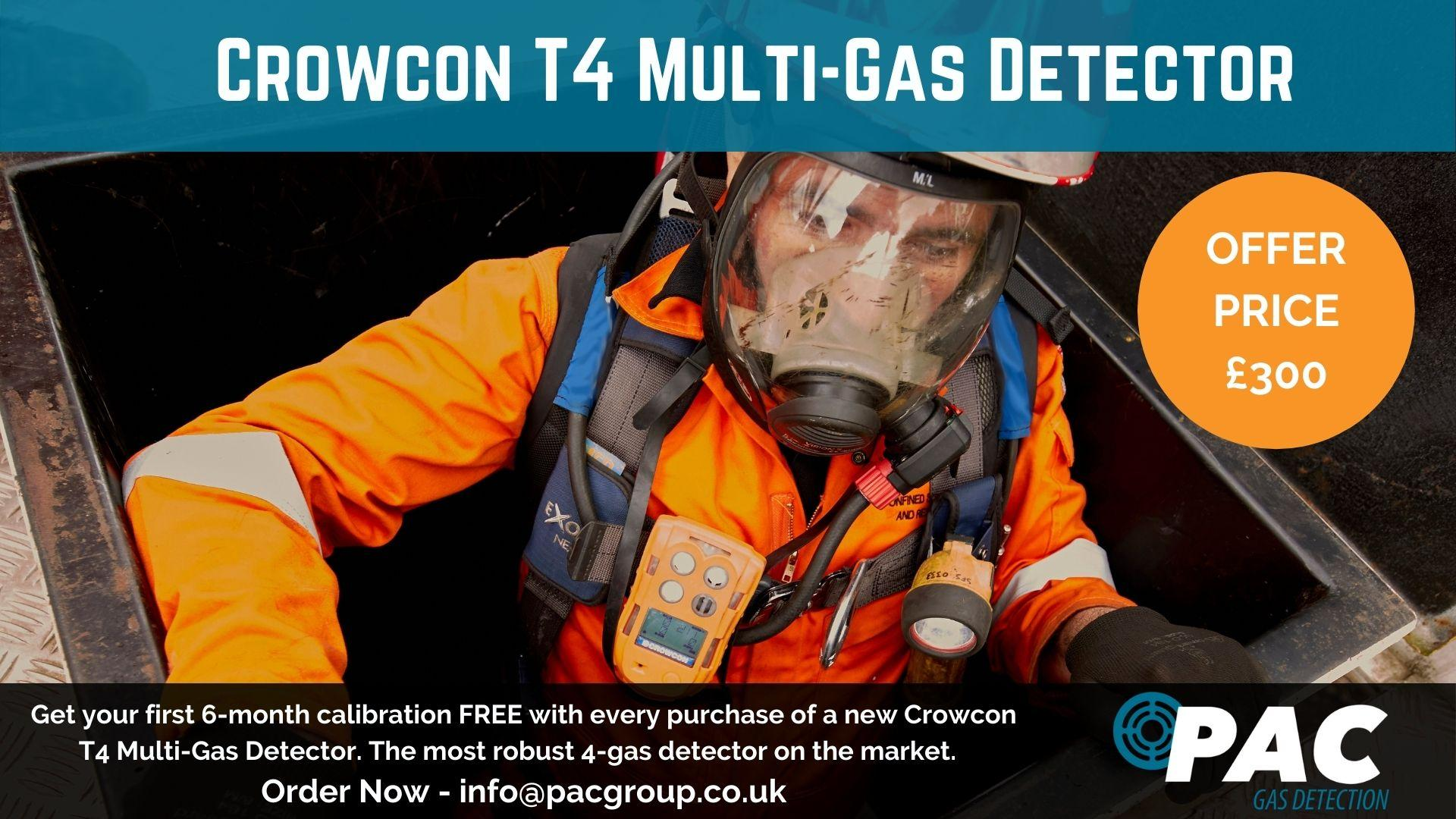 PAC Gas Detection Crowcon T4 Offer
