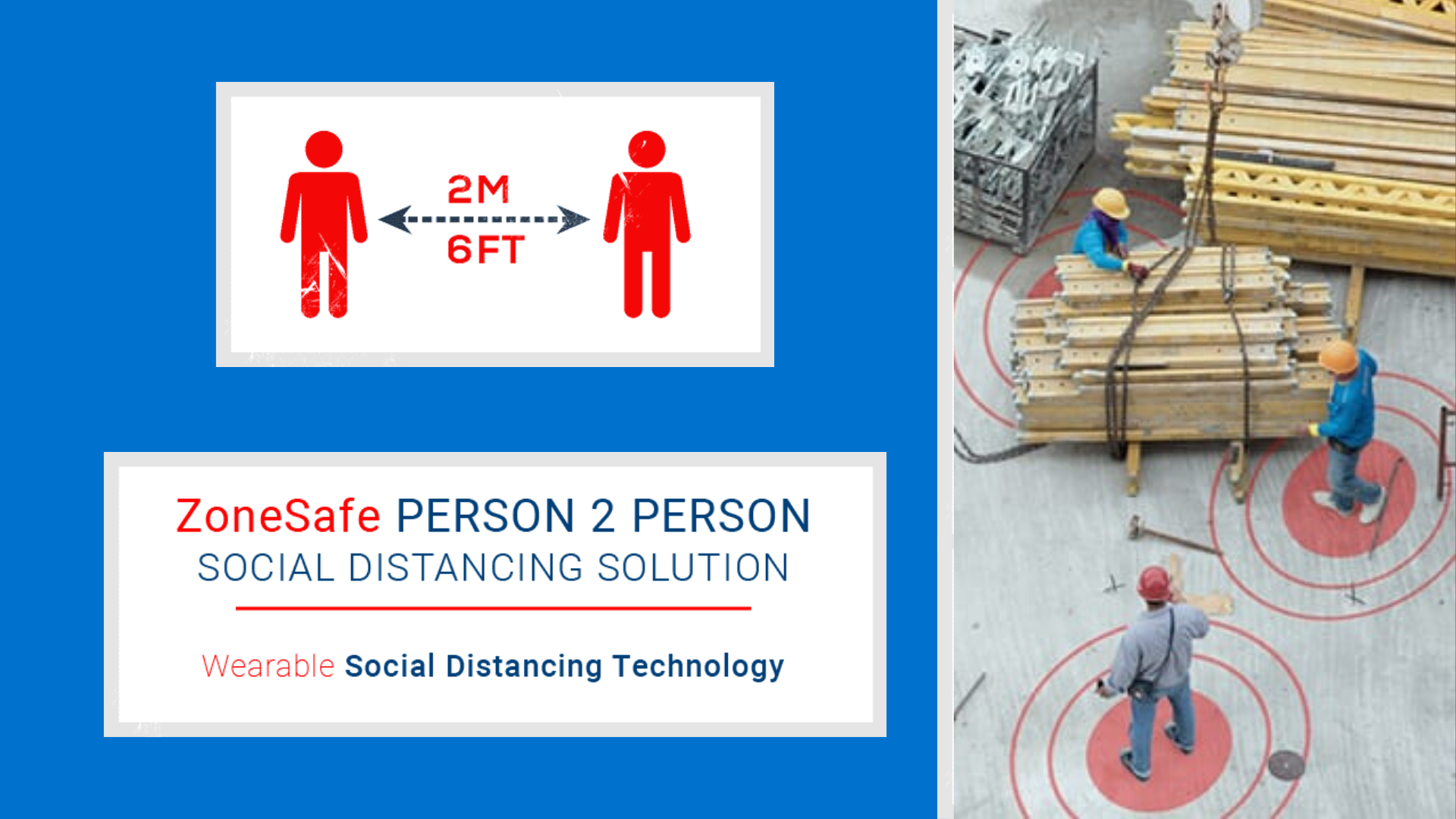 Zone Safe P2 P Social Distancing Solution